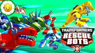Transformers Rescue Bots 1 Наперегонки с бедой Диноботы Хитвейв и Чейз против злодея Морокко