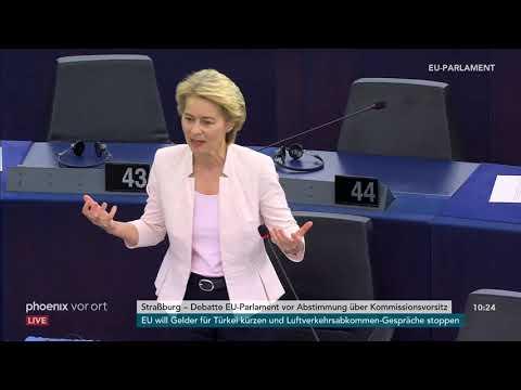 Ursula von der Leyen zu den Reden der Fraktionsvorsitzenden im EU-Parlament am 16.07.19