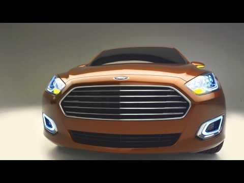 2015 Ford Escort Sedan Concept - Shanghai Show