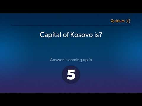 Capital of Kosovo is?   Countries and Capitals Quiz