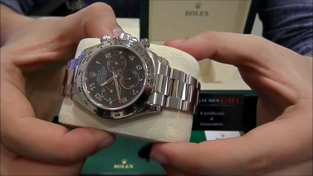 Rolex Daytona 116509 White Gold Racing Red Dial New Watchesgmt