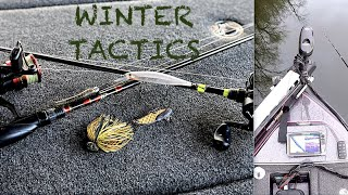 WINTER FISHING Center Hill Lake Cold Front Conditions bassfishing winterfishing howto