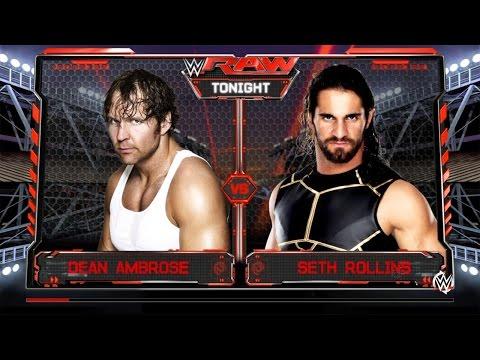 WWE Raw-Dean Ambrose vs Seth Rollins  Full Match  18/07/16