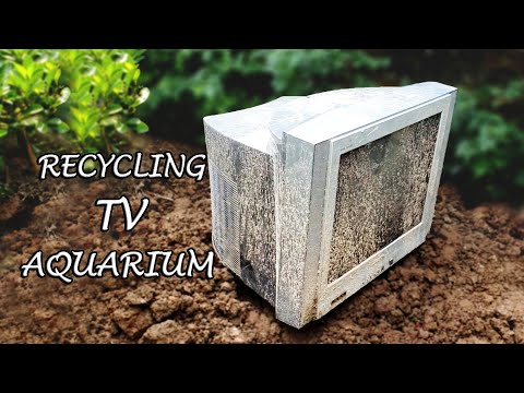 Amazing Idea - Change Damaged TV Into An AQUARIUM