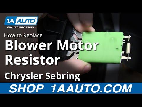 How to Replace Blower Motor Resistor 01-04 Chrysler Sebring