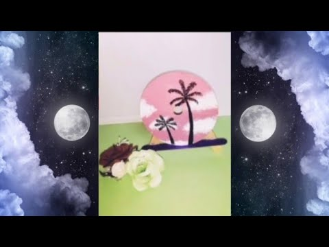 How to paint on a CD || Acrylic painting || CD art work #shorts