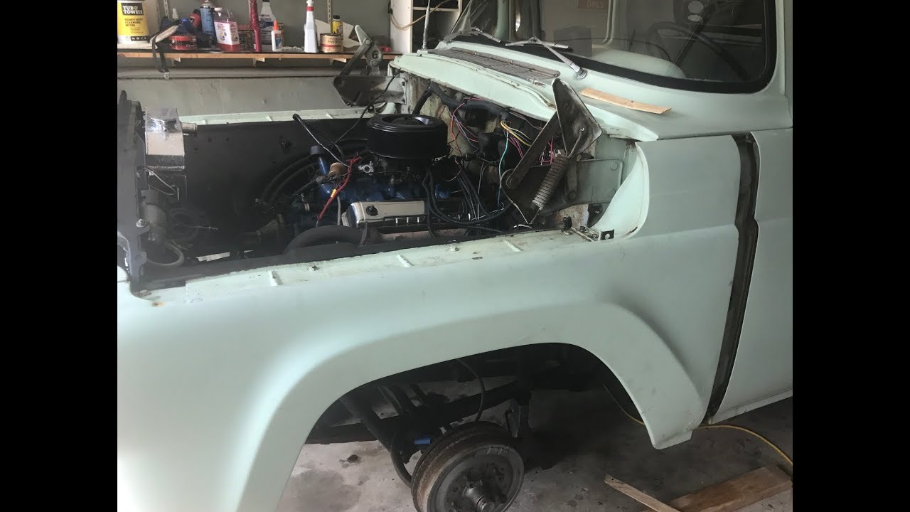 1959 F100 front clip removal process