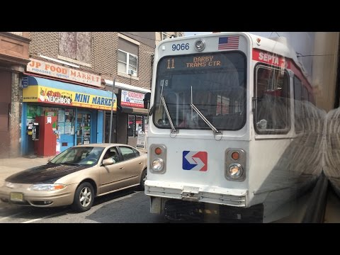 SEPTA HD 60fps: Riding K-Car 9041 on Route 11 (Darby Transportation Center to 13th Street) 7/14/16