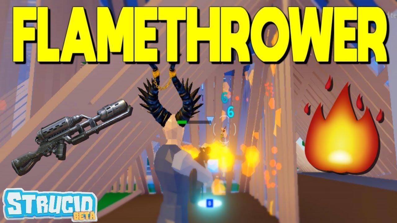 *NEW* Flamethrower In Strucid Is Too EASY (Roblox) - YouTube