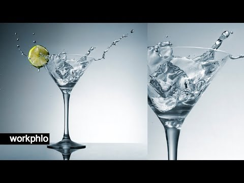 Simple Martini Splashes | Splash Photography Tutorial with Speedlights