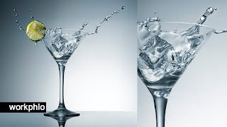 Simple Martini Splashes | Splash Photography Tutorial with Speedlights