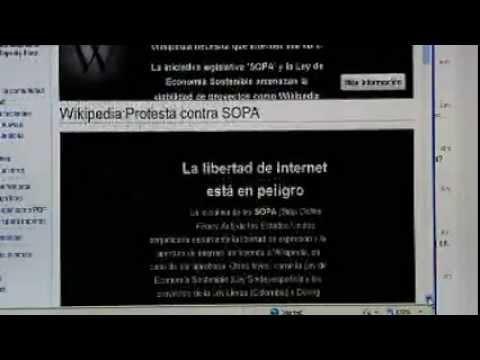 """Wikipedia lidera """"apagón"""" virtual en EEUU"""