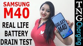 Samsung Galaxy M40 - Battery Drain Test(1 Day Heavy Use)