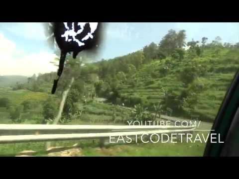 road view from Madiun Magetan to Sarangan resort town