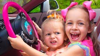 مايا تلعب لعبة اسم ما هو خارج نافذة السيارة   أفضل سلسلة قصص تربوية وأخلاقية للأطفال