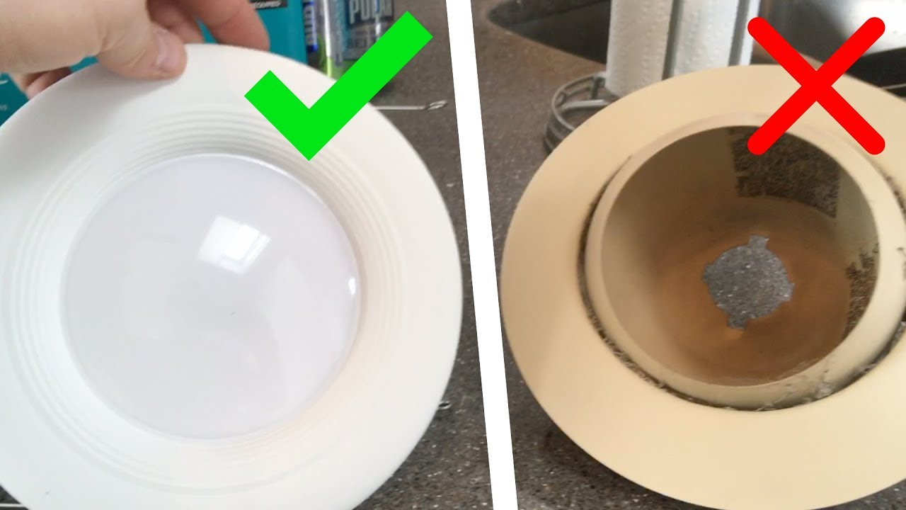 how to update old recessed lights to led dimmers