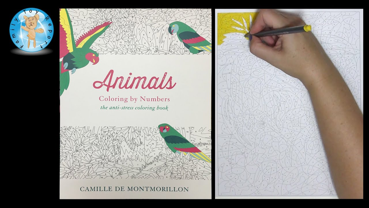 Animals Coloring By Number Adult Book Speed Color
