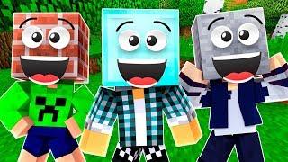 VIRAMOS BLOCOS NO  ESCONDE-ESCONDE !! - ( Minecraft Esconde-Esconde )