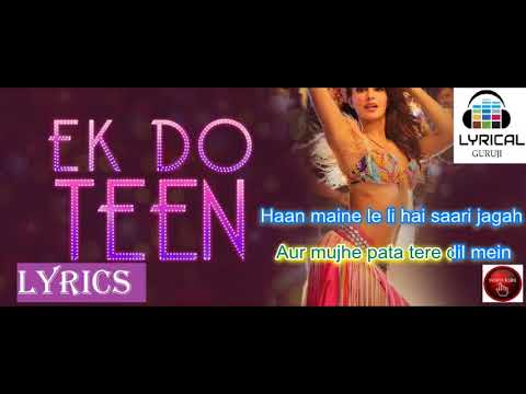 Ek Do Teen Song - Lyrics- Baaghi 2 (2018) - Shreya Ghoshal, Rap by Parry G #LYRICALGURUJI