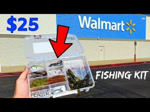 $25 DIY Walmart Bass Fishing Kit!!!