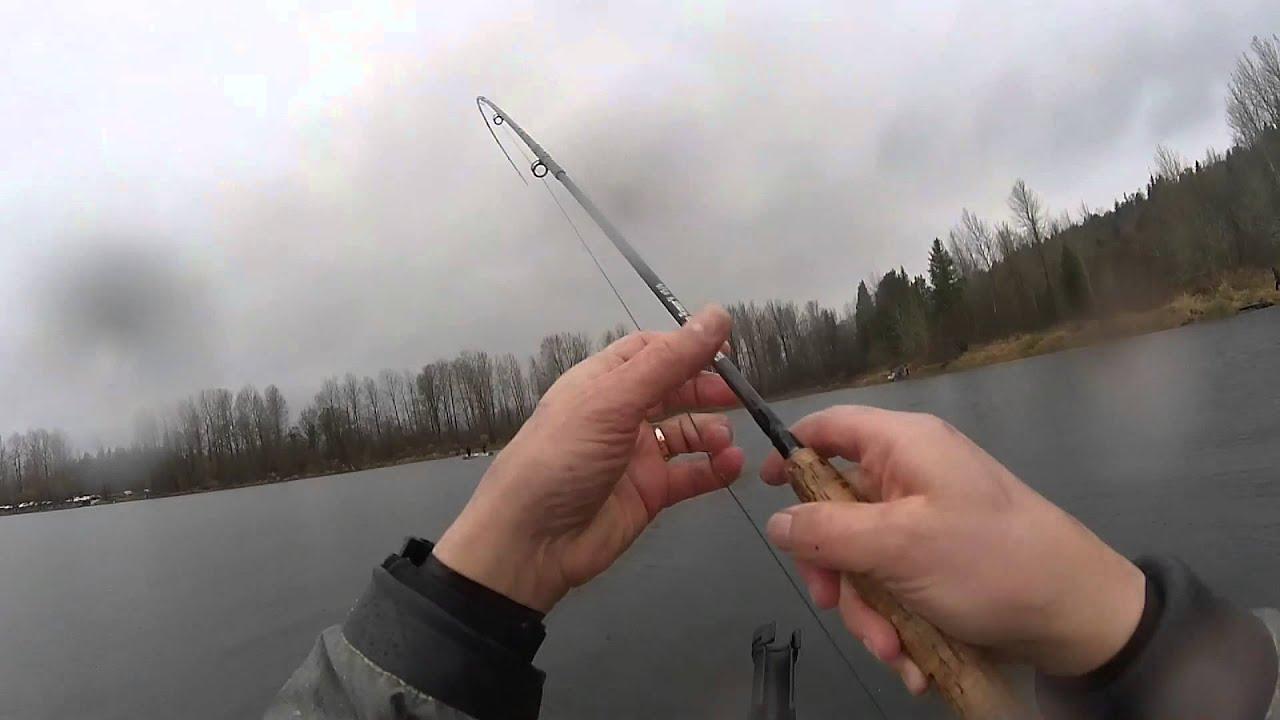kress lake. chasing trout with the fly rod and kayak on black friday kress lake