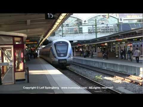 SL X60 commuter trains at Stockholm central station, Sweden