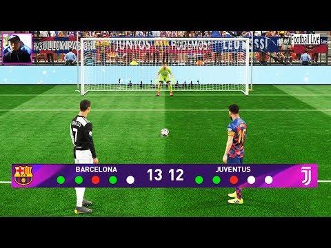 Penalty Shootout | FC Barcelona vs Juventus | L.Messi vs C.Ronaldo | Pro Evolution Soccer 2019
