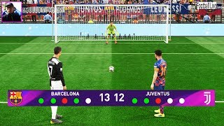 Penalty Shootout | FC Barcelona vs Juventus | L.Messi vs C.Ronaldo | Pro Evolution Soccer 2019