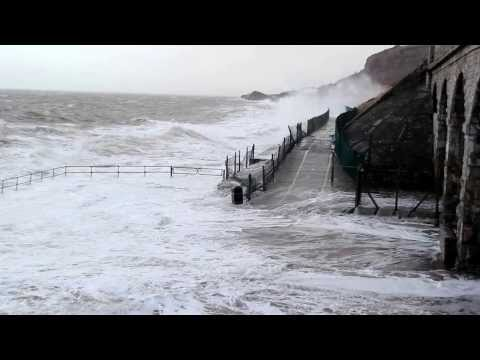 Storm at the prom, Old Colwyn, Colwyn Bay, North wales coast - 2013 2014