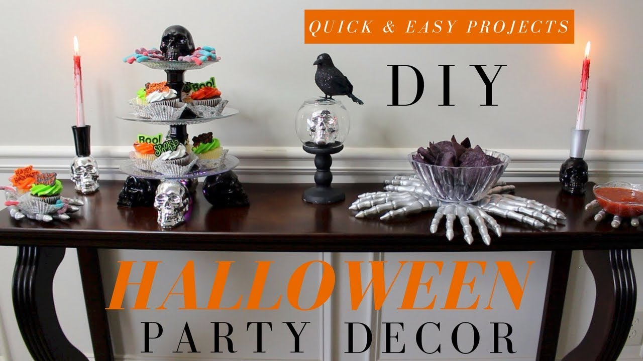But instead of buying party decorations that are generic, impersonal — and maybe even boring — why not put your crafting skills to use and diy some d. Diy Halloween Decorations Halloween Party Decoration Ideas Diy Cupcake Stand More Youtube