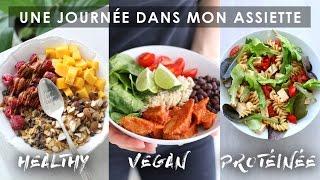 UNE JOURNÉE DANS MON ASSIETTE | Vegan Healthy Protéinée