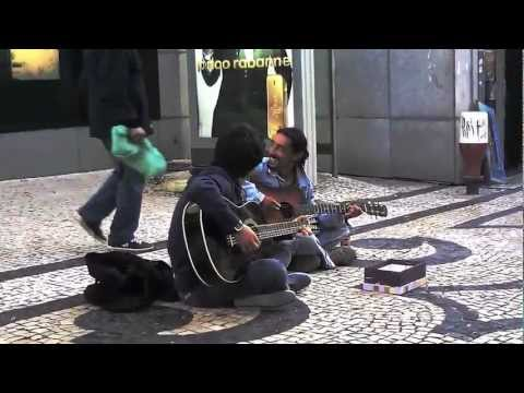 """Carlos Maciel (Músico de Rua) e João Barbosa - """"Heart Shapped Box"""" (Nirvana Cover)"""