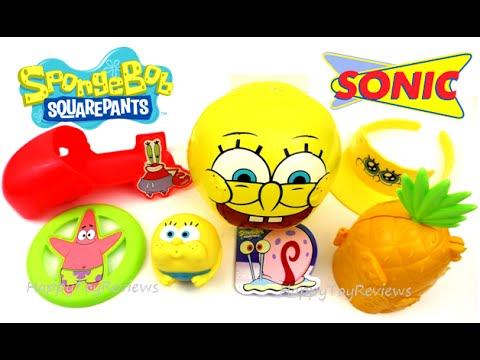 2016 Sonic Drive In Spongebob Squarepants Kids Meal Toys Complete