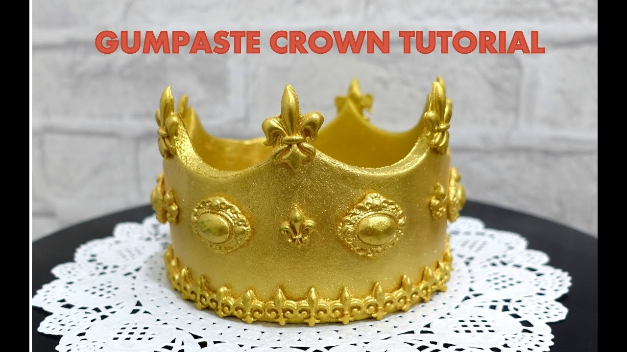 How To Make Fondant Crown Cake Topper