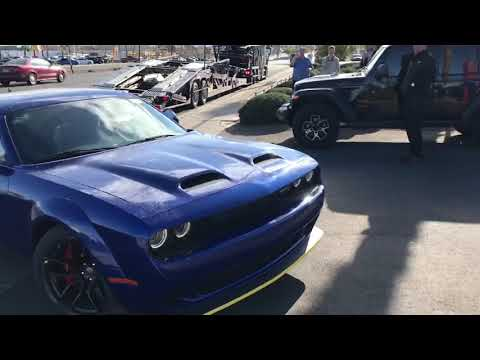 TAKING DELIVERY 1ST 2019 DODGE CHALLENGER HELLCAT SRT REDEYE WIDEBODY IN LAS VEGAS