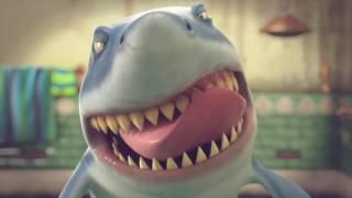 известная игра про акулы как чистит свои острые как бритва зубы