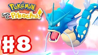 Pokemon Let's Go Pikachu and Eevee - Gameplay Walkthrough Part 8 - Gyarados Evolution!