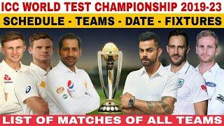 ICC WORLD TEST CHAMPIONSHIP 2019-2023 SCHEDULE, TEAMS, DATE, VENUE, FIXTURES