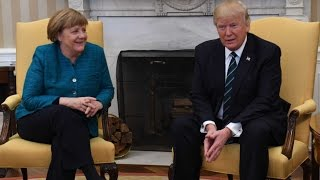 Trump Printed Out Fake $378 Billion Invoice, Handed to Angela Merkel