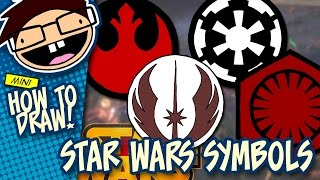How to Draw SYMBOLS from the STAR WARS Movies | Narrated Easy Step-by-Step Tutorial