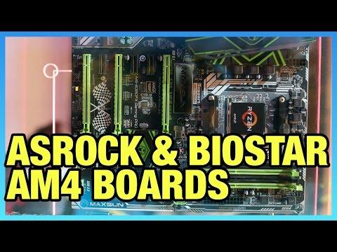 AM4 Ryzen Motherboards from ASRock & Biostar (X370, B350)