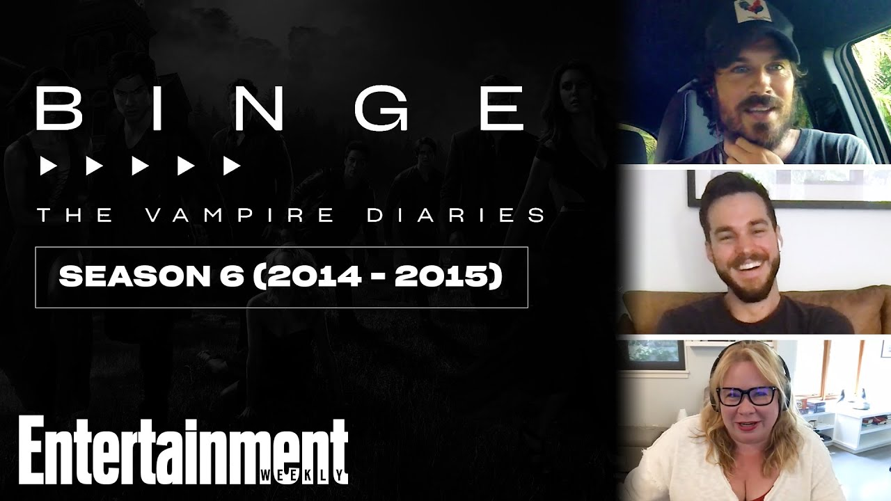 Download Ian Somerhalder & Chris Wood Recap 'Vampire Diaries' Season 6 | EW's Binge | Entertainment Weekly