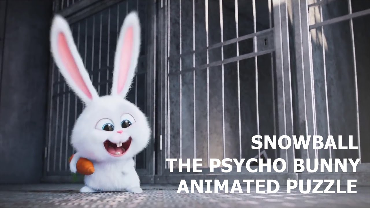 cute snowball the psycho bunny the secret life of pets