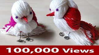 How to make cute bird crafts /  woolen bird