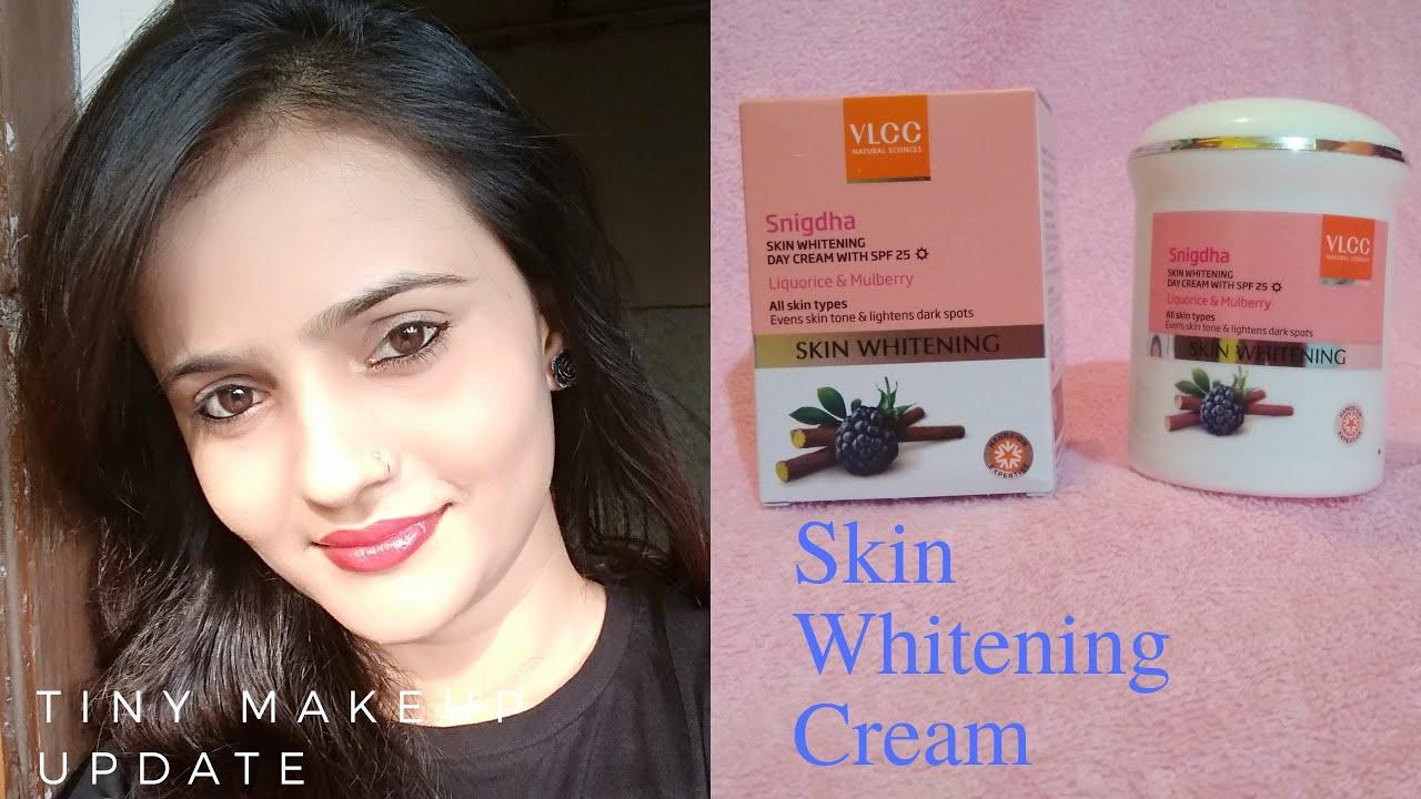 1357c193e96 Vlcc Snigdha Skin Whitening Day Cream Review l All Skin Type l Tiny ...