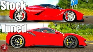 Forza Horizon 4: Stock vs Tuned! Ferrari 488 Pista vs LaFerrari