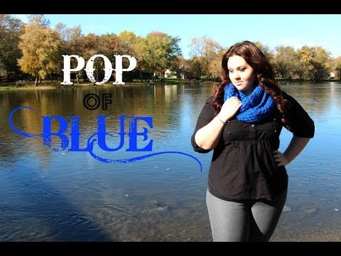 Plus Size OOTD: Pop of Blue. Http://Bit.Ly/2KBtGmj