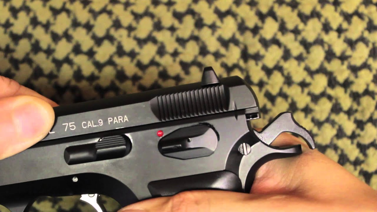 asg cz75 gas blowback airsoft pistol by airsoftmaster com youtube