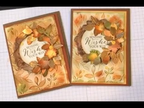 Sending Wishes Fall card #3