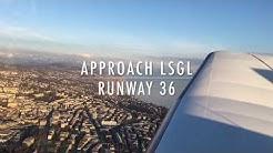 Landing Lausanne Airport Switzerland